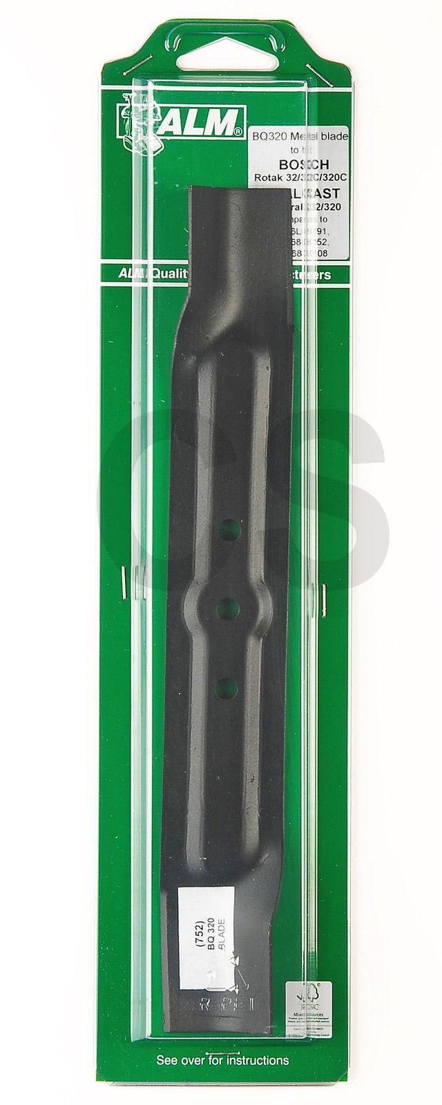 alm qualcast easi trak 32 320 bosch rotak 32 320 320c metal blade 32cm bq320 ebay. Black Bedroom Furniture Sets. Home Design Ideas