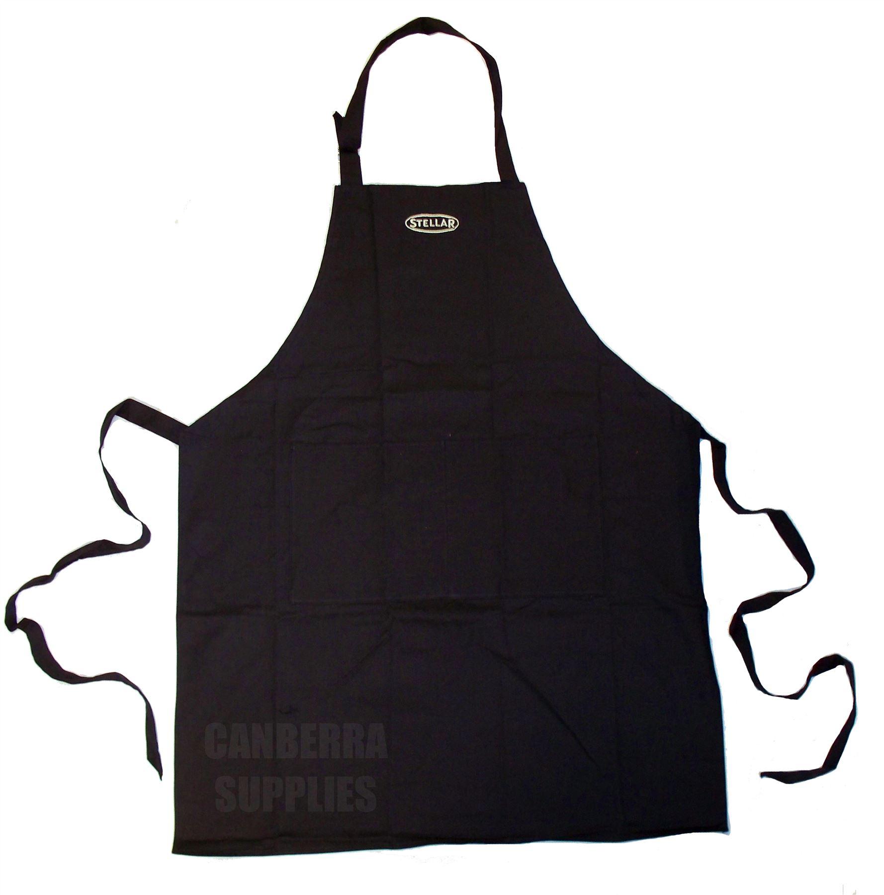 Kitchen Apron Black Double Tie