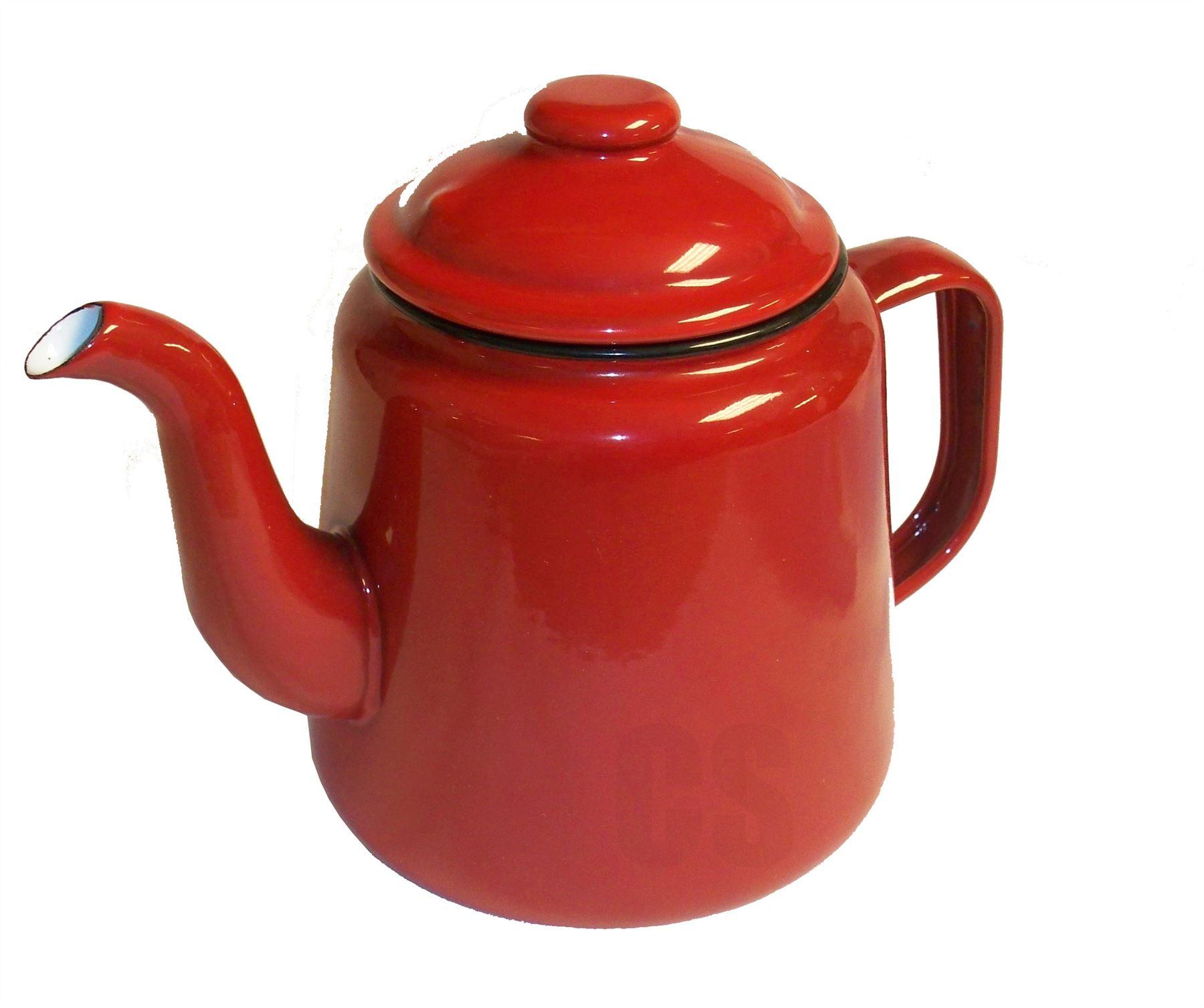 how to clean enamel pot