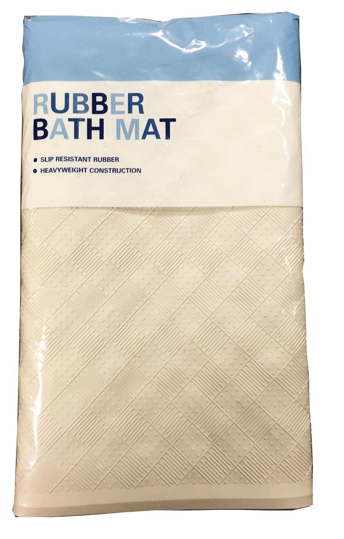 Croydex Rubber Grip Safety Non Slip White Bath Mat Ebay
