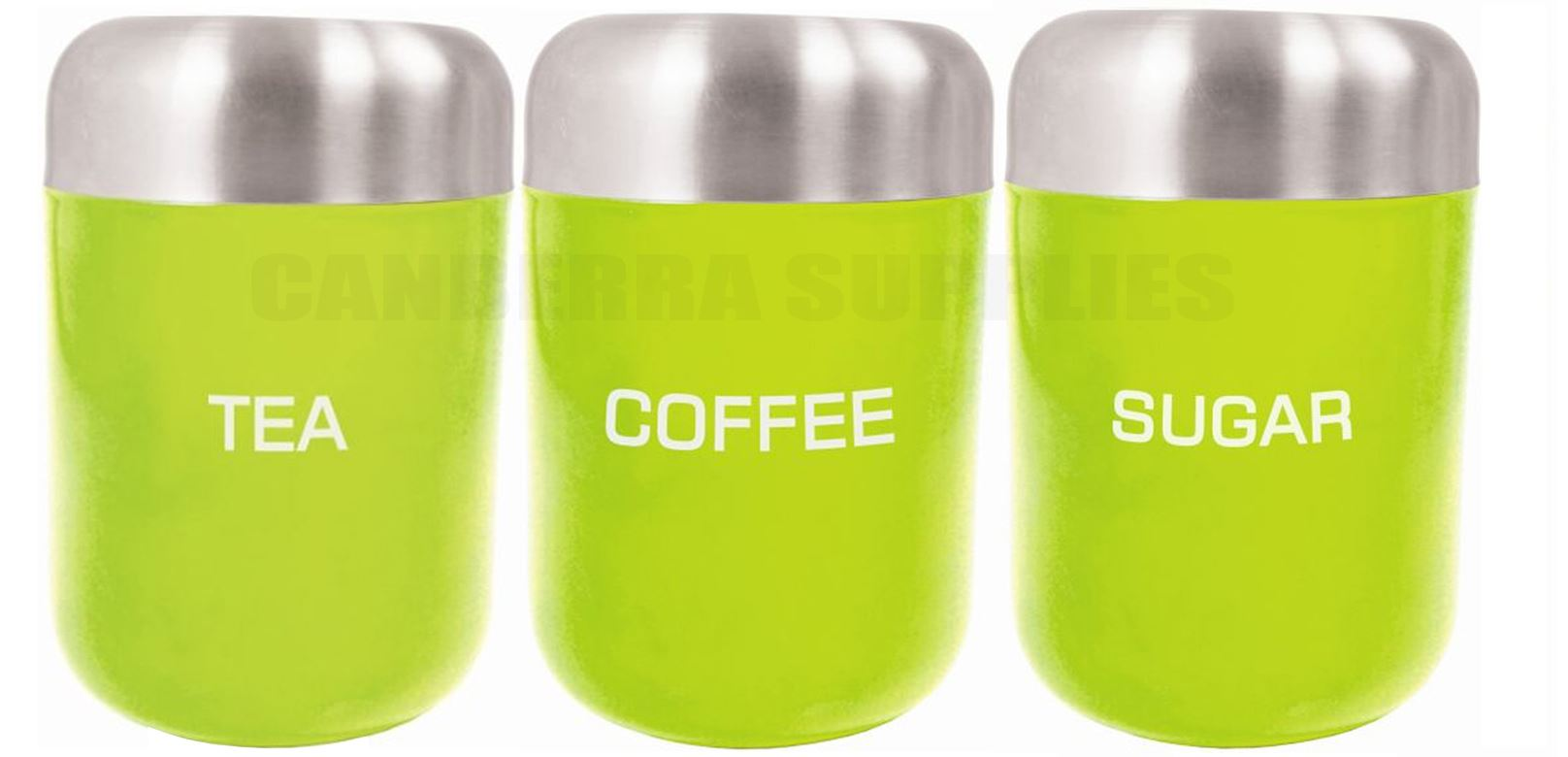 zodiac kitchen tea coffee sugar storage canister jar lime green liberty tea coffee sugar bread bin biscuit