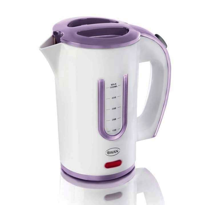 Swan Electric Travel Kettle Small Compact Inc 2 Cups