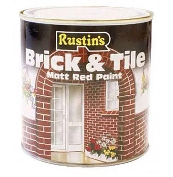 Rustins brit250 brick and tile interior exterior matt red paint tin 250ml ebay - Matt exterior paint image ...