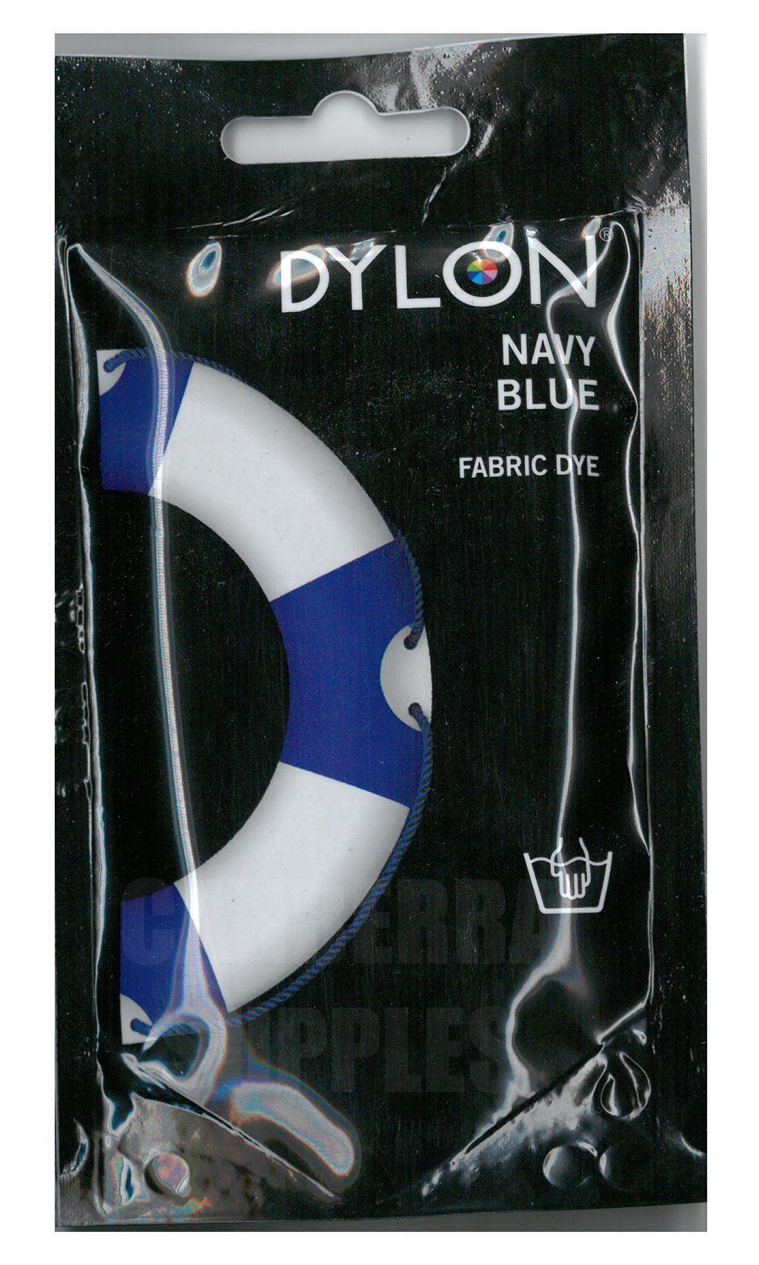 dylon fabric clothes dye navy blue hand wash use 50g. Black Bedroom Furniture Sets. Home Design Ideas