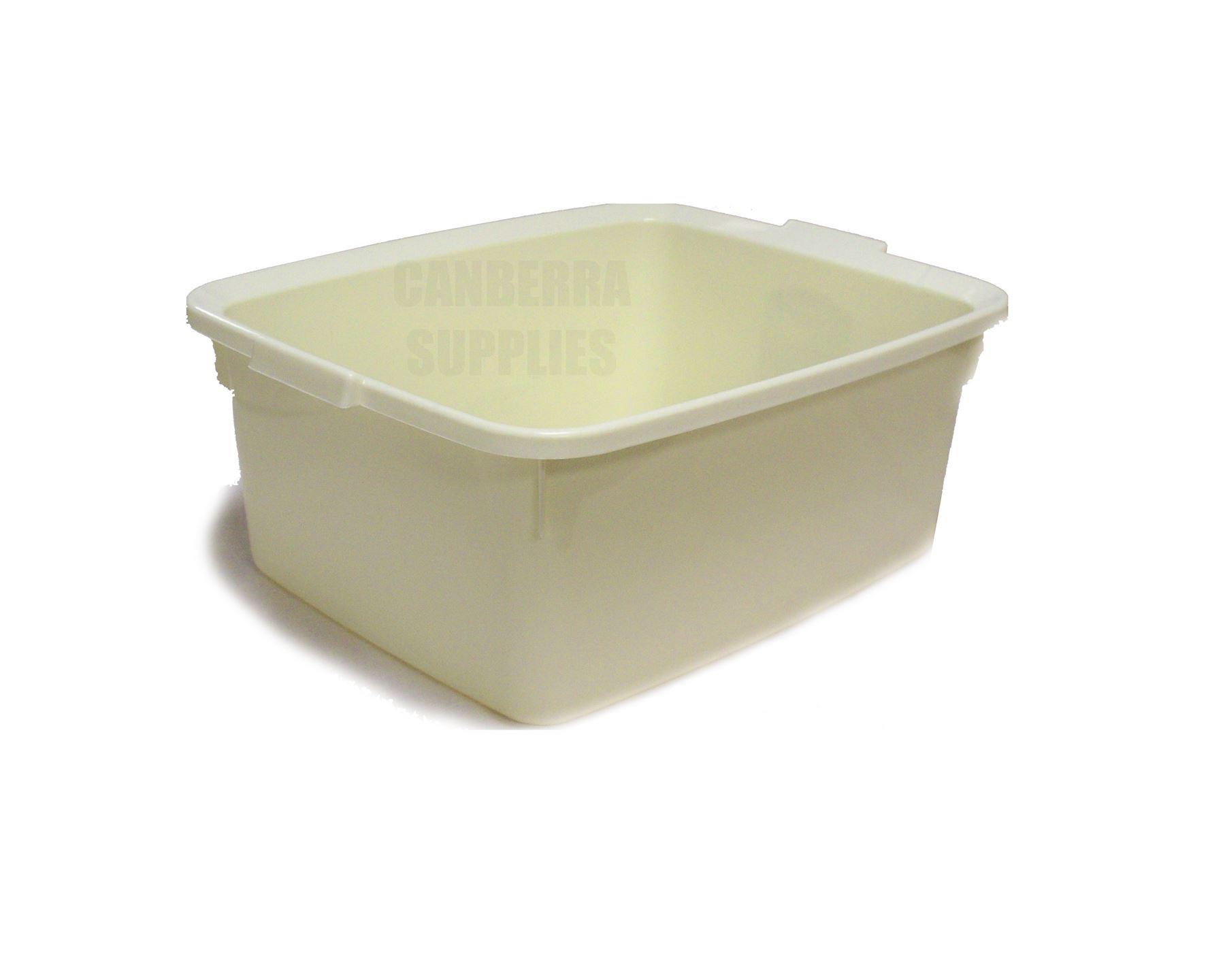Plastic Wash Basin Sink : linen cream 42cm plastic washing up sink bowl 12l high quality bowl ...