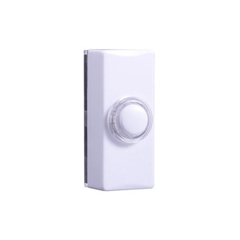 byron white wired illuminated doorbell bell push ebay. Black Bedroom Furniture Sets. Home Design Ideas