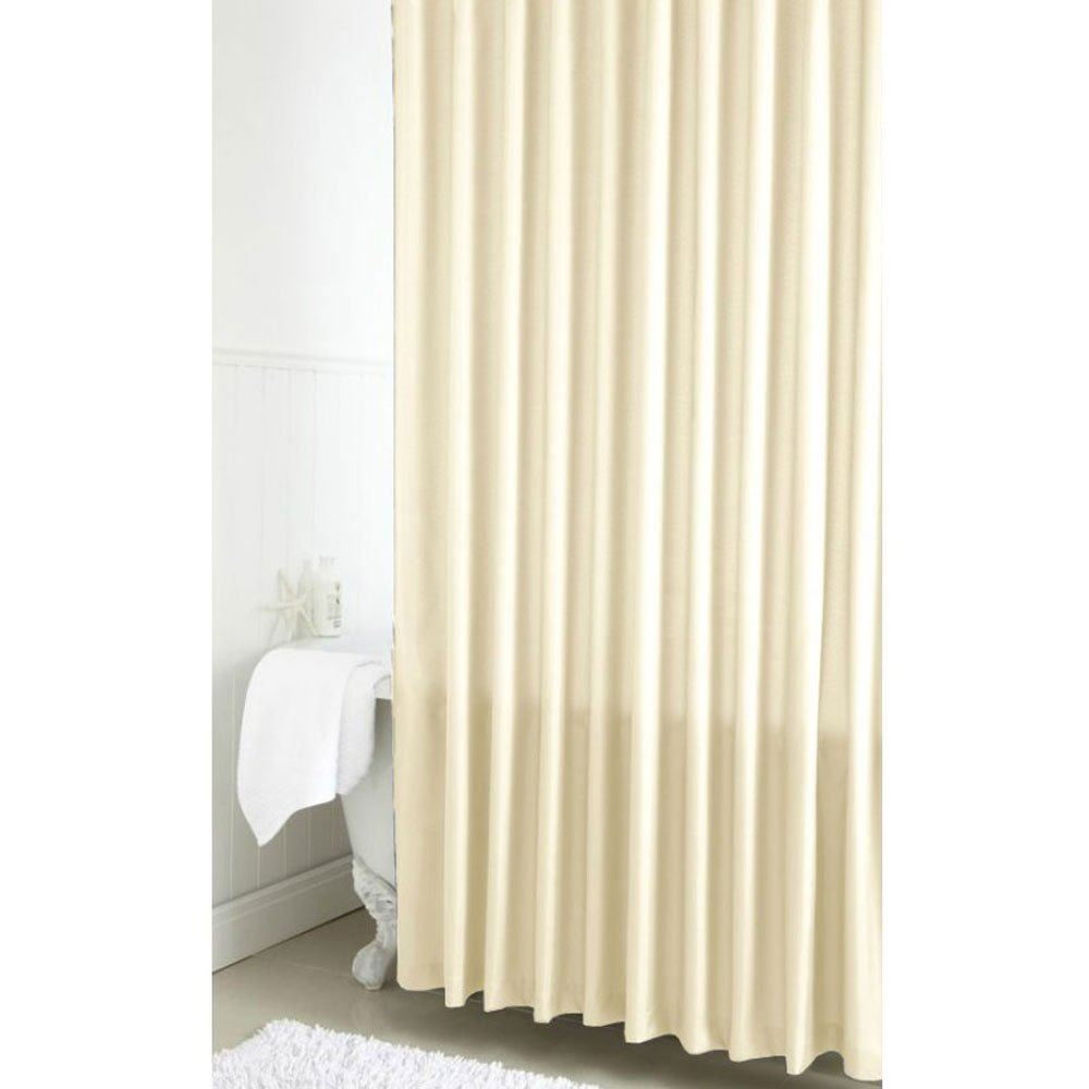 croydex pvc vinyl waterproof ivory bathroom shower curtain. Black Bedroom Furniture Sets. Home Design Ideas