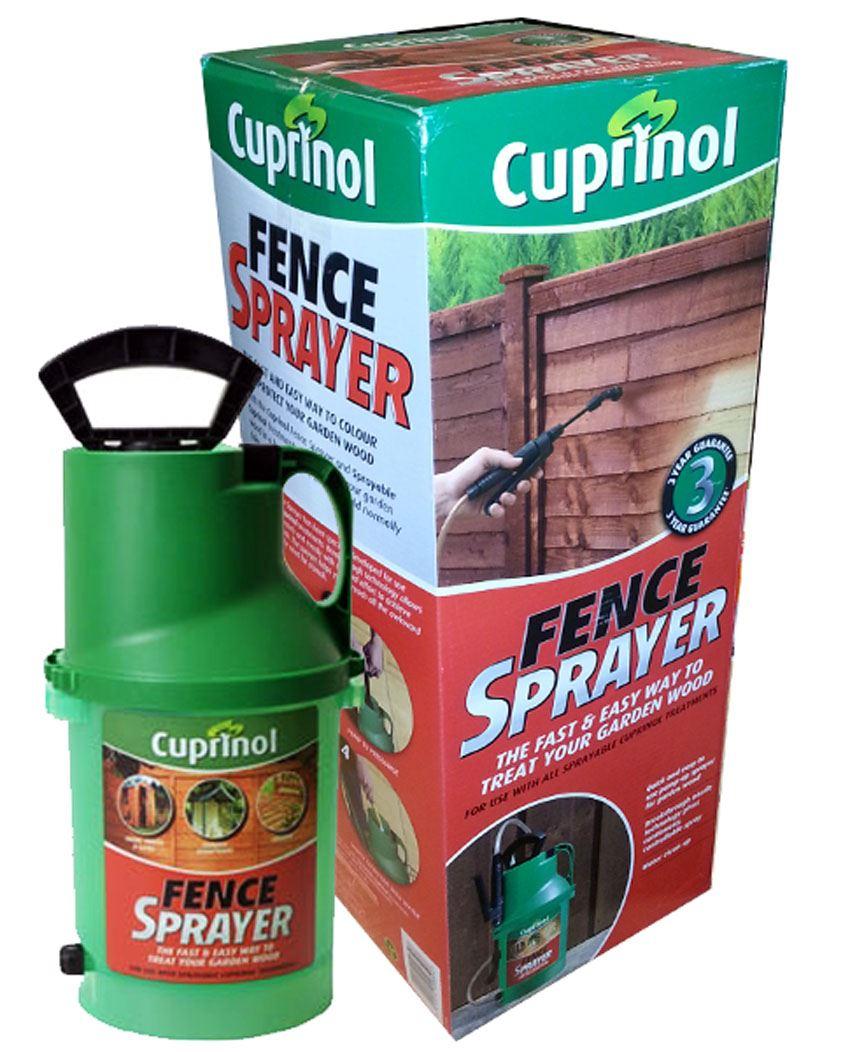 cuprinol fence pump sprayer spray paint painter garden. Black Bedroom Furniture Sets. Home Design Ideas