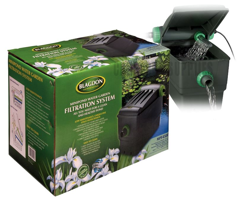Blagdon garden mini pond water cleaner filter filtration for Outdoor fountain filter systems