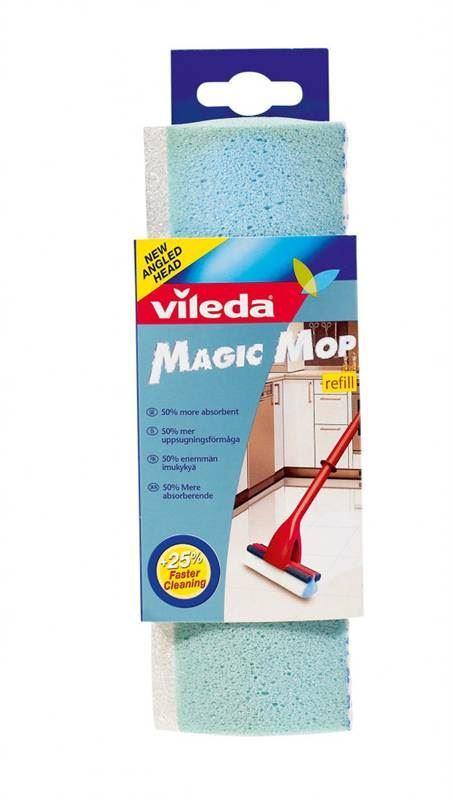 3 x vileda magic mop refill sponge heads ebay. Black Bedroom Furniture Sets. Home Design Ideas