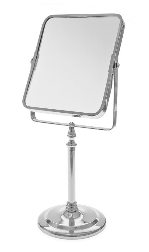 Blue Canyon Traditional Chrome Pedestal Rectangular Shaving Bathroom Mirror