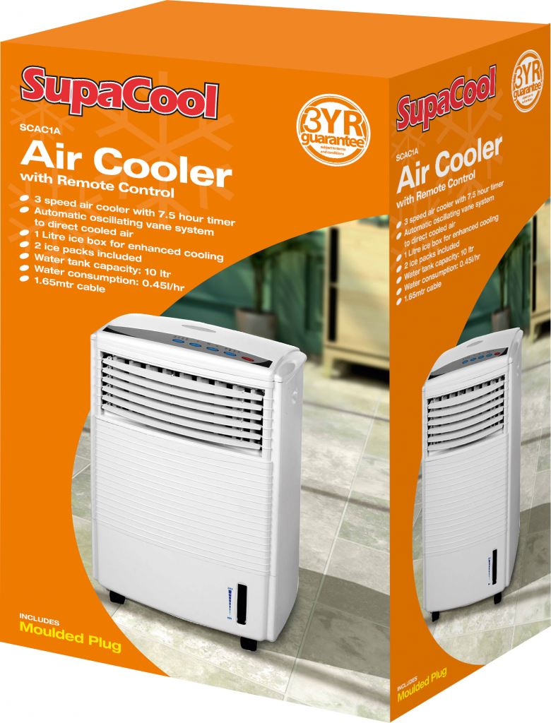 Ice Pack Air Coolers : Supacool air cooler fan with remote control yr guarantee