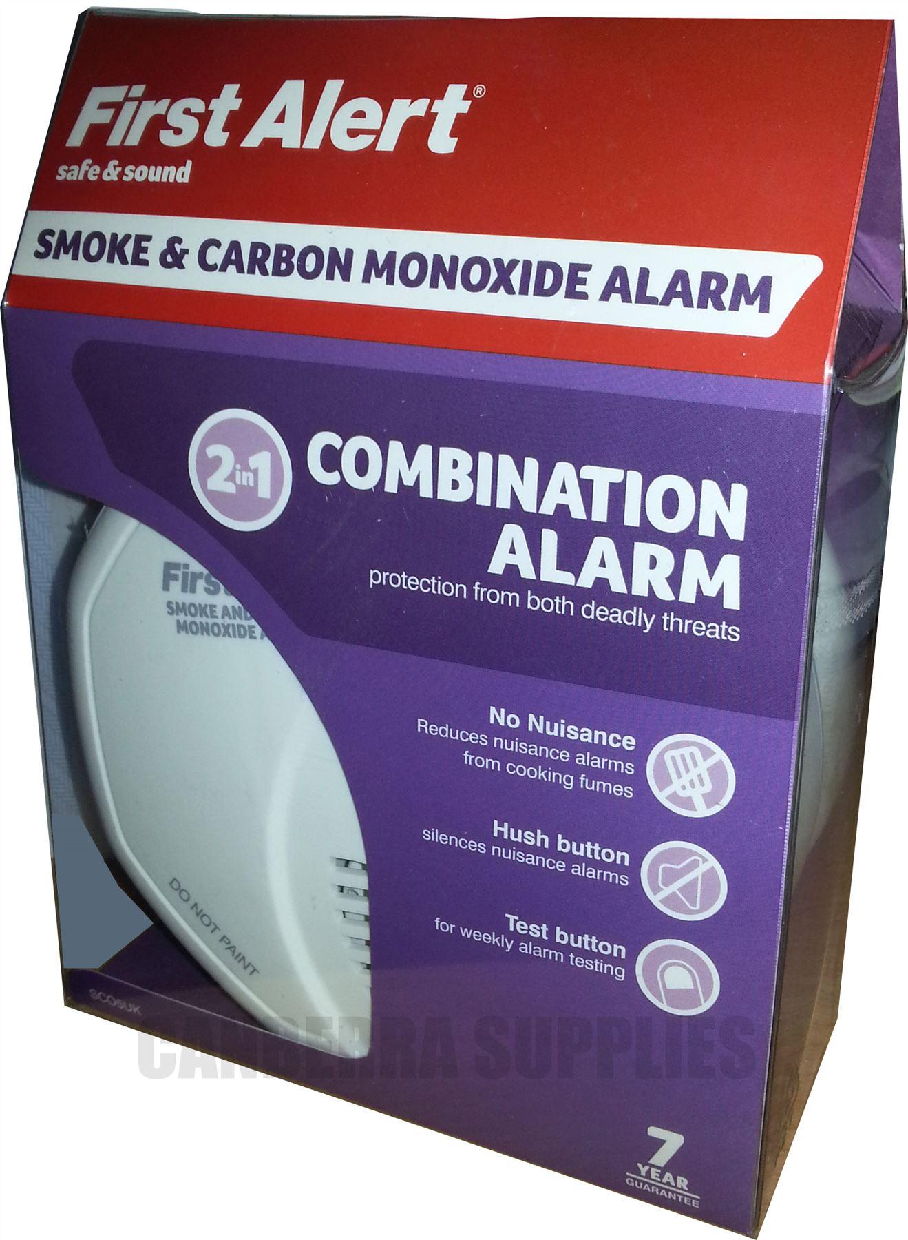 first alert carbon monoxide co smoke alarm detector. Black Bedroom Furniture Sets. Home Design Ideas