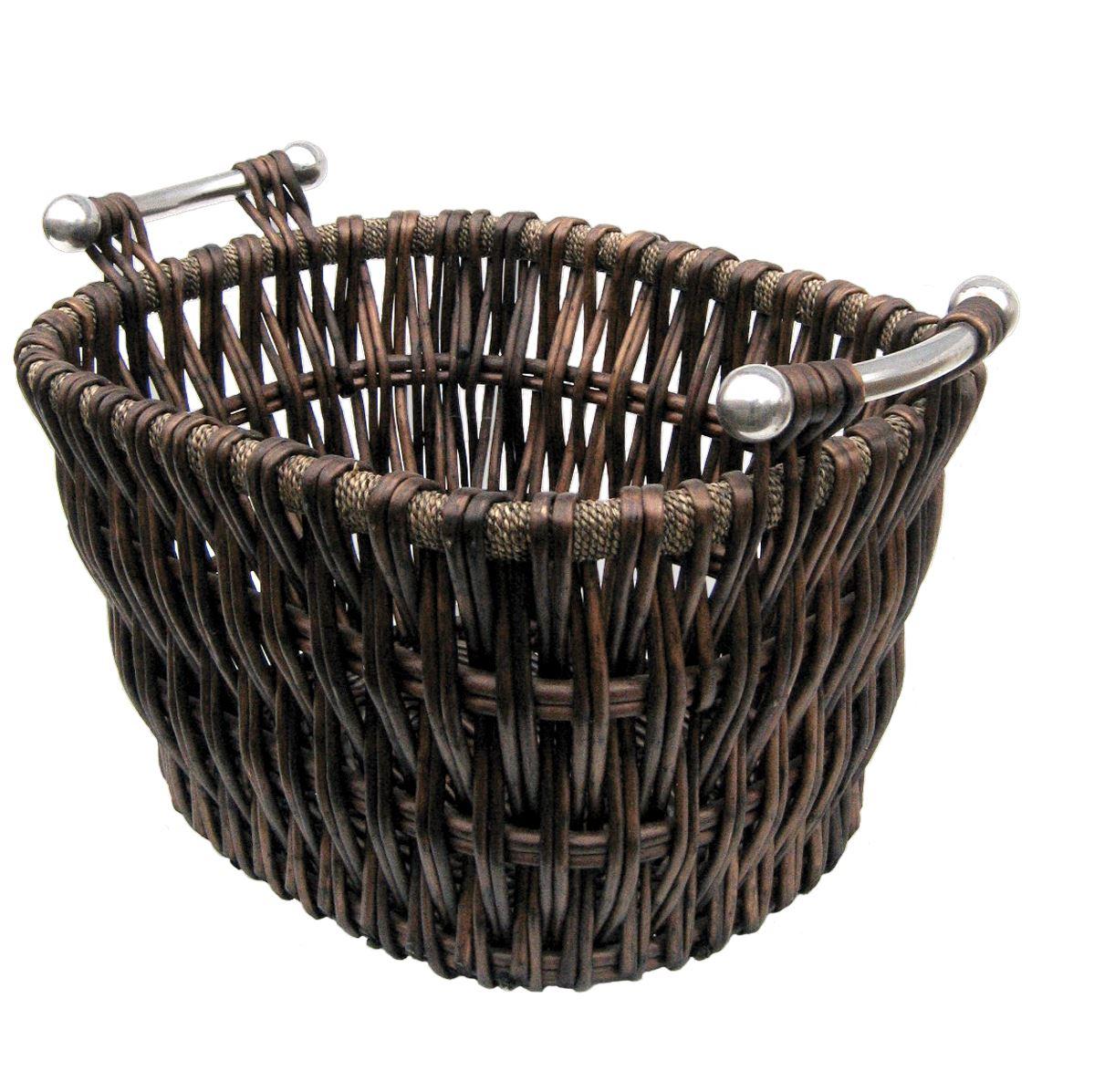 Basket Weaving Supplies Canberra : Manor bampton willow basket log carrier holder with
