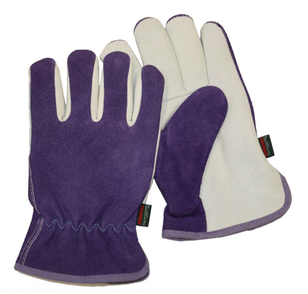 Town country premium leather suede ladies gardening for Gardening gloves ladies