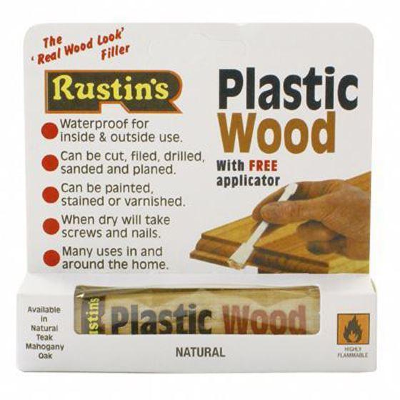 rustins plastic waterproof wood filler natural tube with applicator 30g ebay. Black Bedroom Furniture Sets. Home Design Ideas