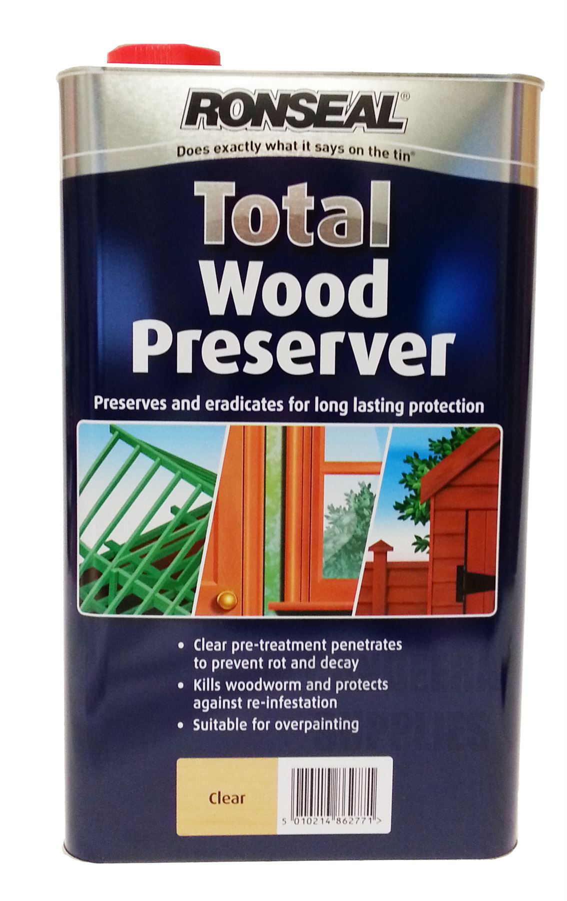 ronseal total wood preserver kills woodworm prevents rot. Black Bedroom Furniture Sets. Home Design Ideas