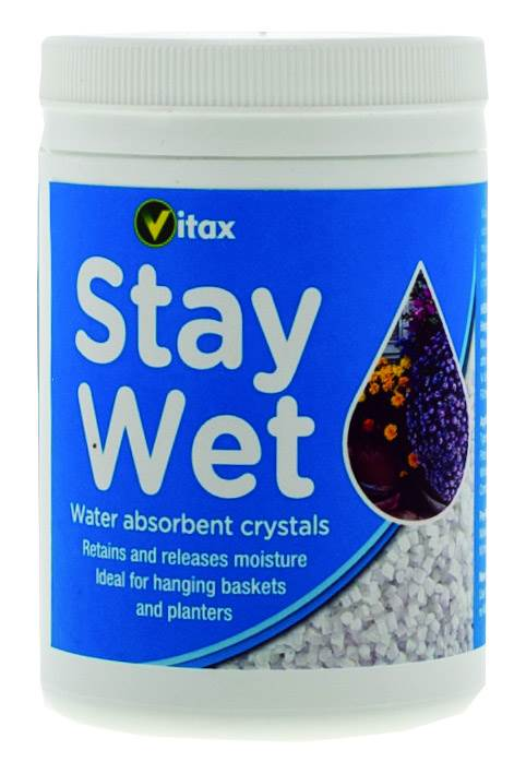 Water Retaining Products : Vitax stay wet water retention crystals hanging baskets