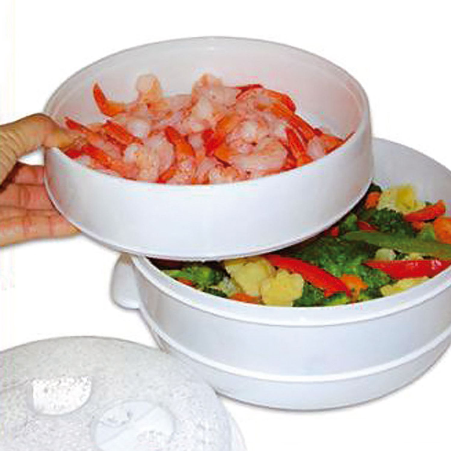 2 tier microwave steamer instructions