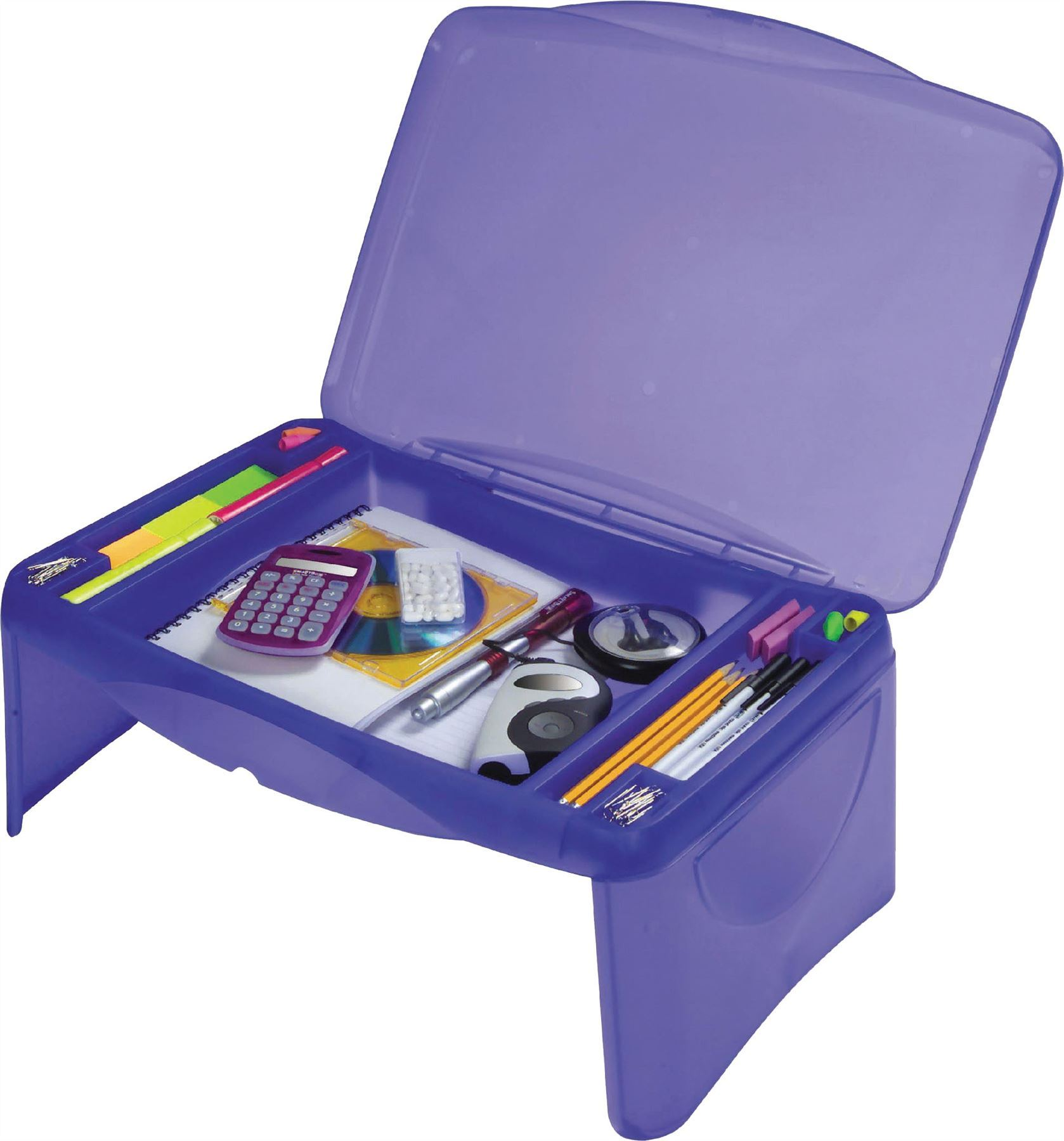 Portable Pc Storage : Portable folding lap desk laptop table box w storage