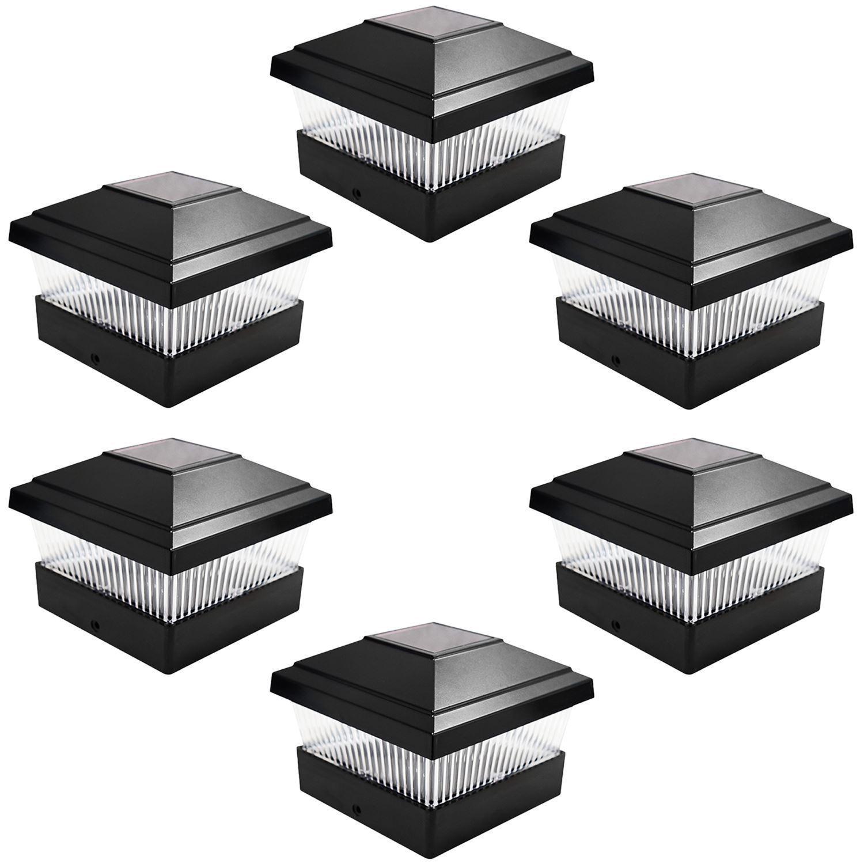 Black Bronze White Outdoor Garden Post Deck Cap Square