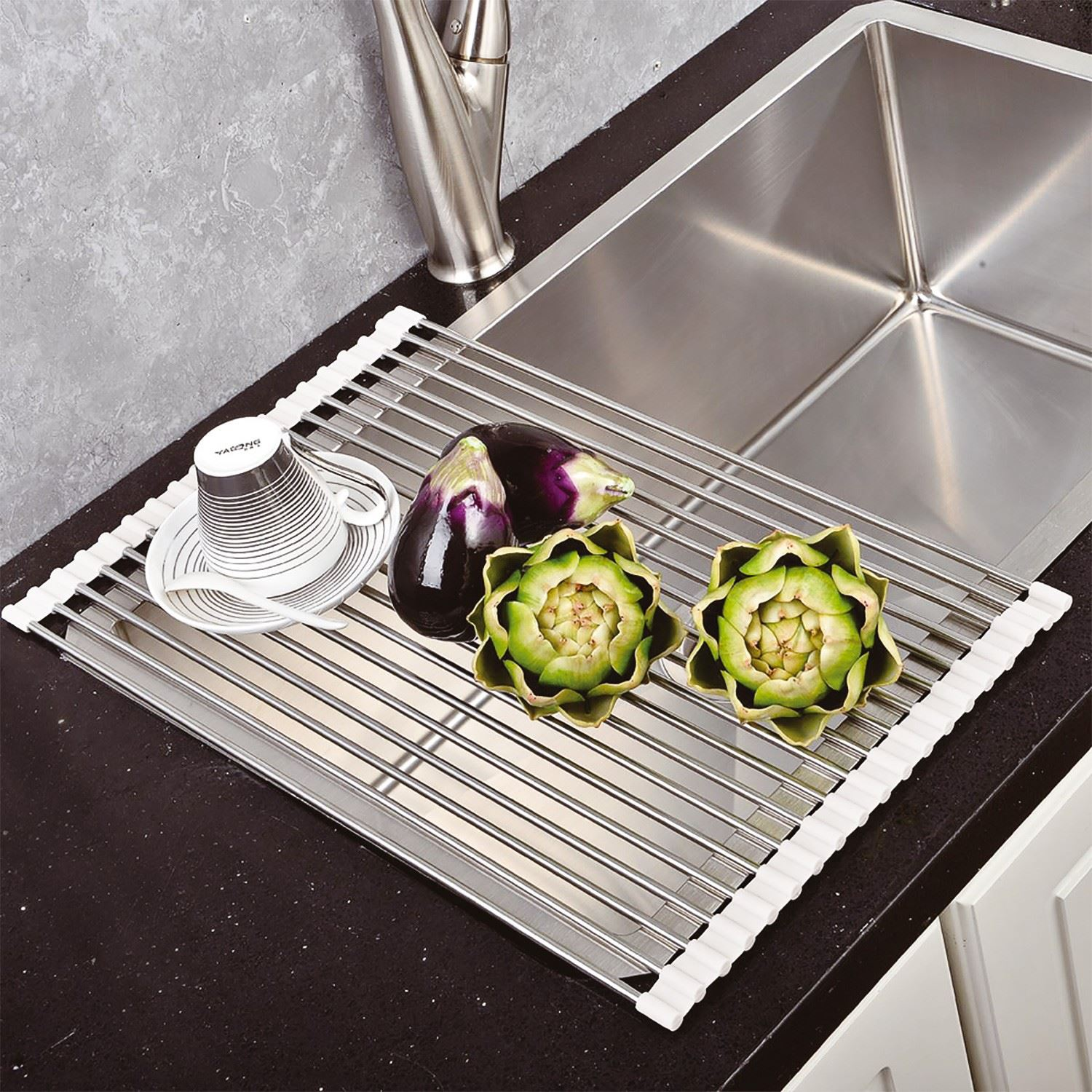 Over the vier cuisine egouttoir de plat rack s chage for Grille de cuisine