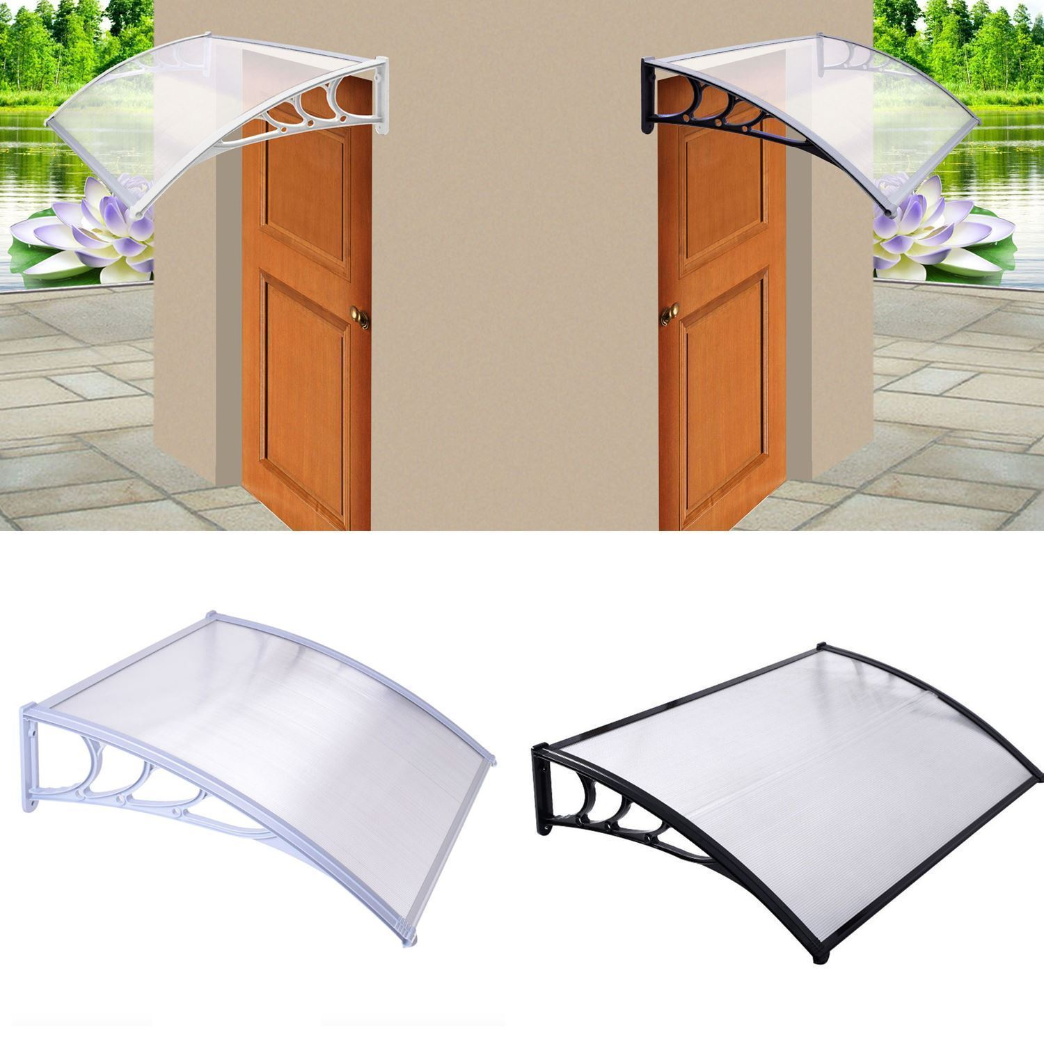Door Canopy Awning Window Rain Cover Protector Shelter