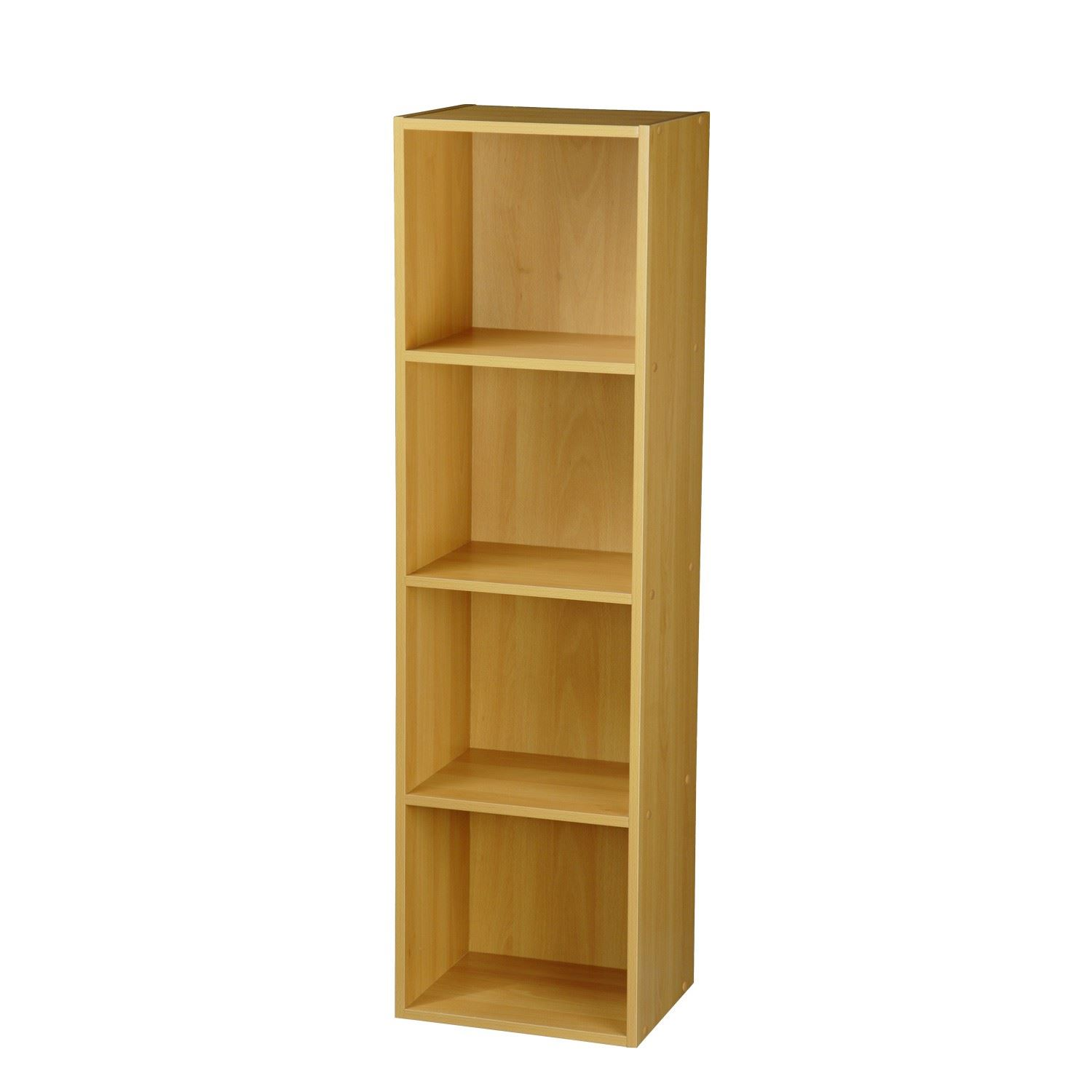 2 4 Tier Wooden Bookcase Shelving Bookshelf Storage Furniture Cube Display Unit Ebay