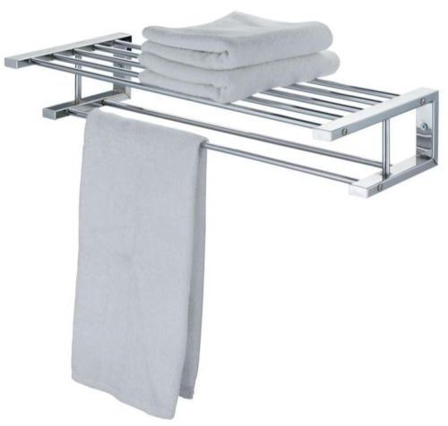 Modern Chrome Quality Bathroom Shelf Towel Stand Rack Rails Ebay