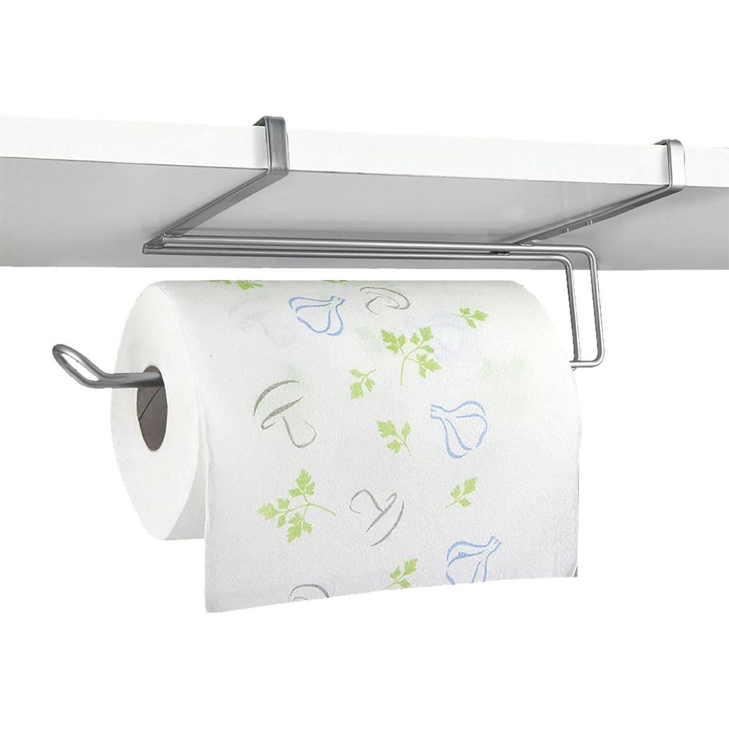 Kitchen Roll Holder Paper Towel Dispenser Under Shelf