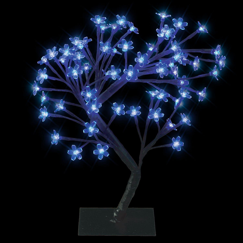 modern blaue led bonsai baum mit 64 led fee zweig lichter tischlampe ebay. Black Bedroom Furniture Sets. Home Design Ideas