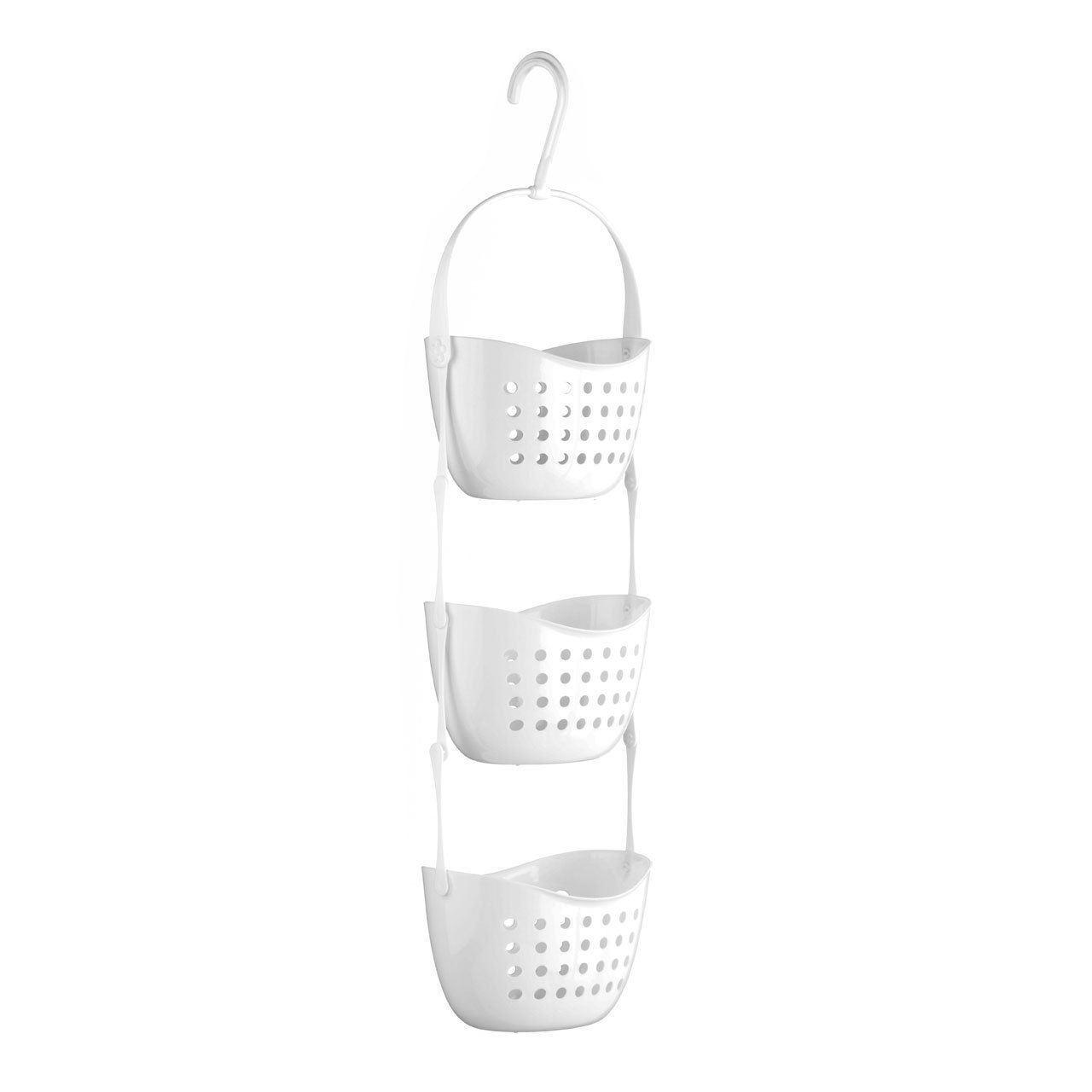 2 tier shower bathroom plastic caddy rack hanging basket. Black Bedroom Furniture Sets. Home Design Ideas