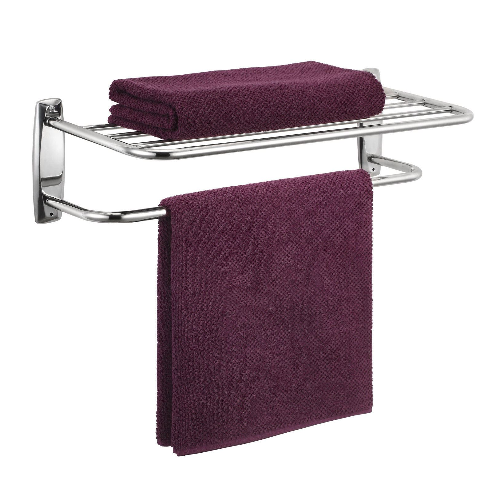 modern chrome quality bathroom shelf towel stand rack rails ebay. Black Bedroom Furniture Sets. Home Design Ideas
