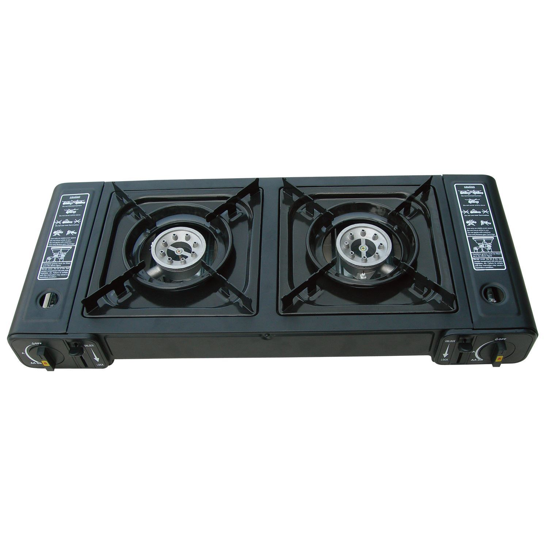 Portable Gas Stove : Portable gas stove single double outdoor camping cooker