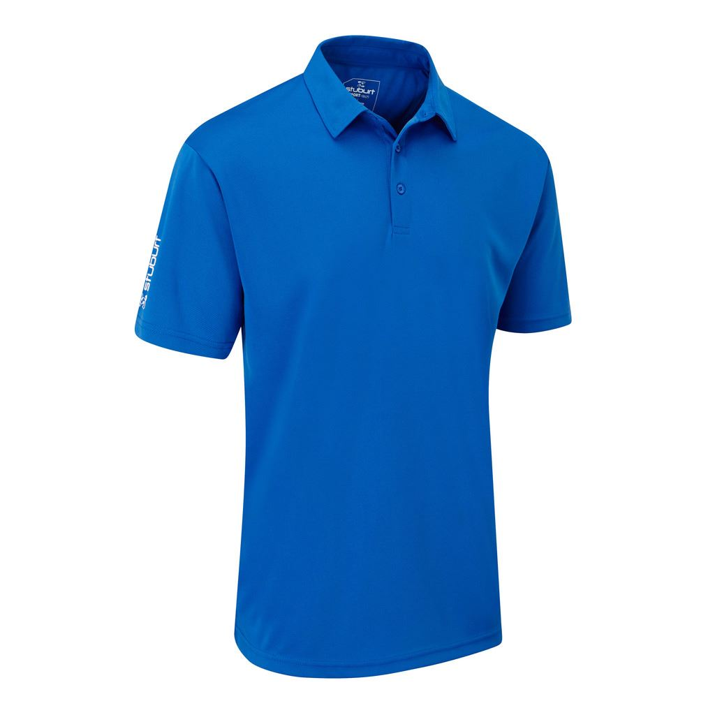 Stuburt golf sport tech breathable shirt funky mens golf for Mens golf polo shirts