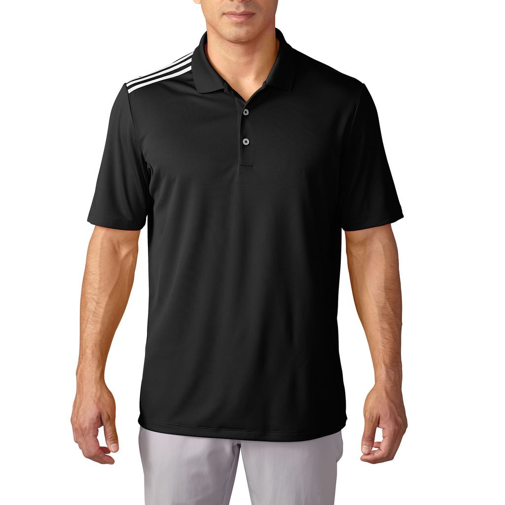 adidas golf climacool 3 stripes shoulder lightweight mens golf polo shirt 2016 ebay. Black Bedroom Furniture Sets. Home Design Ideas