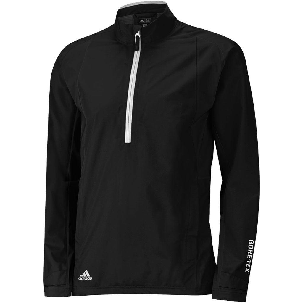 Adidas climaproof gore tex paclite half zip waterproof for Adidas golf rain shirt