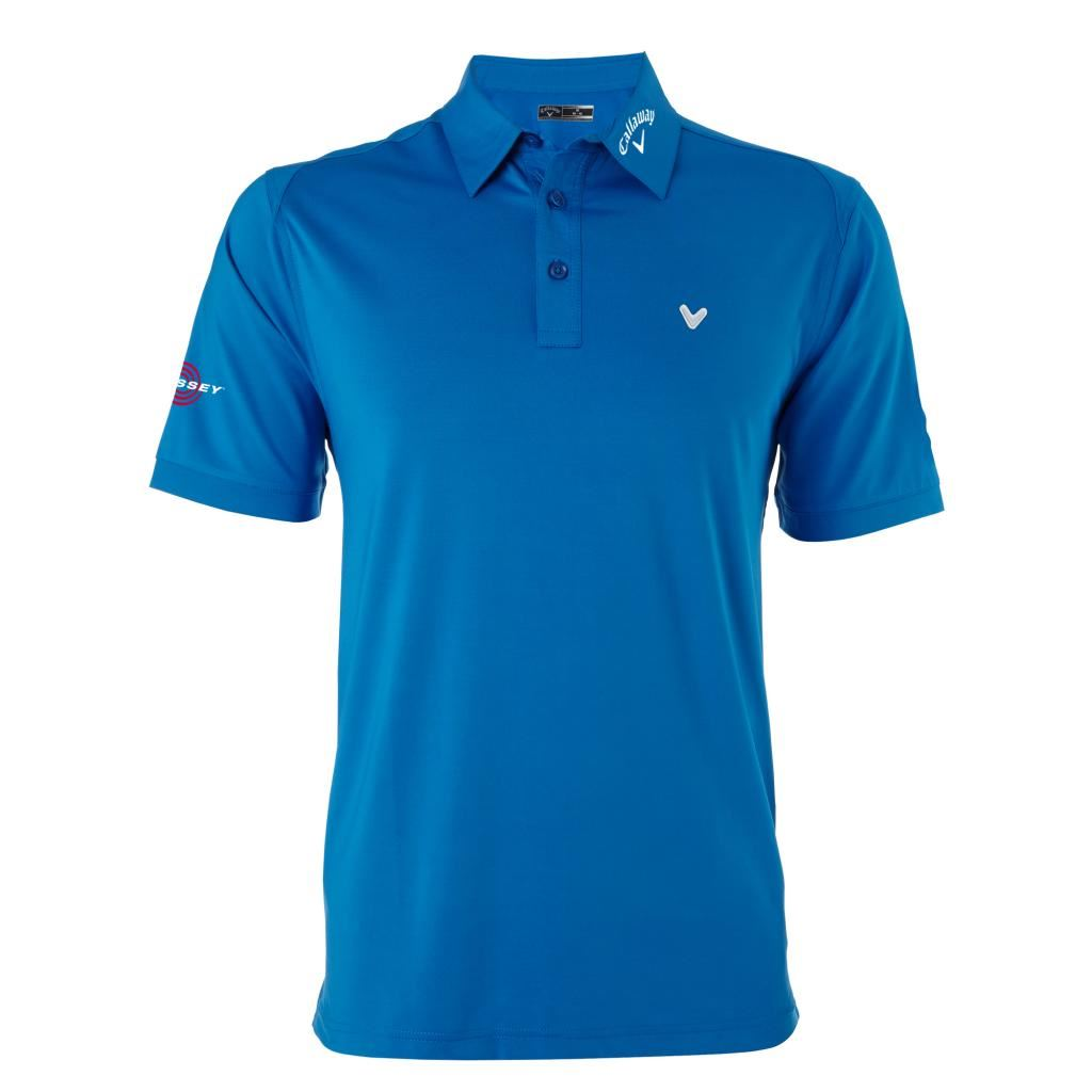 2016 callaway solid interlock odyssey logo mens golf polo for Mens golf polo shirts