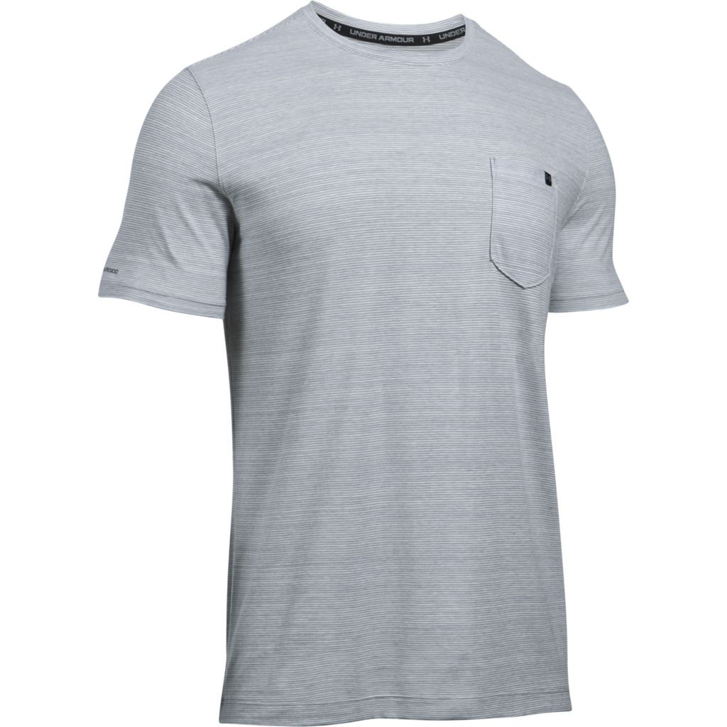 Under armour 2017 charged cotton mens short sleeve pocket for Under armour charged shirt