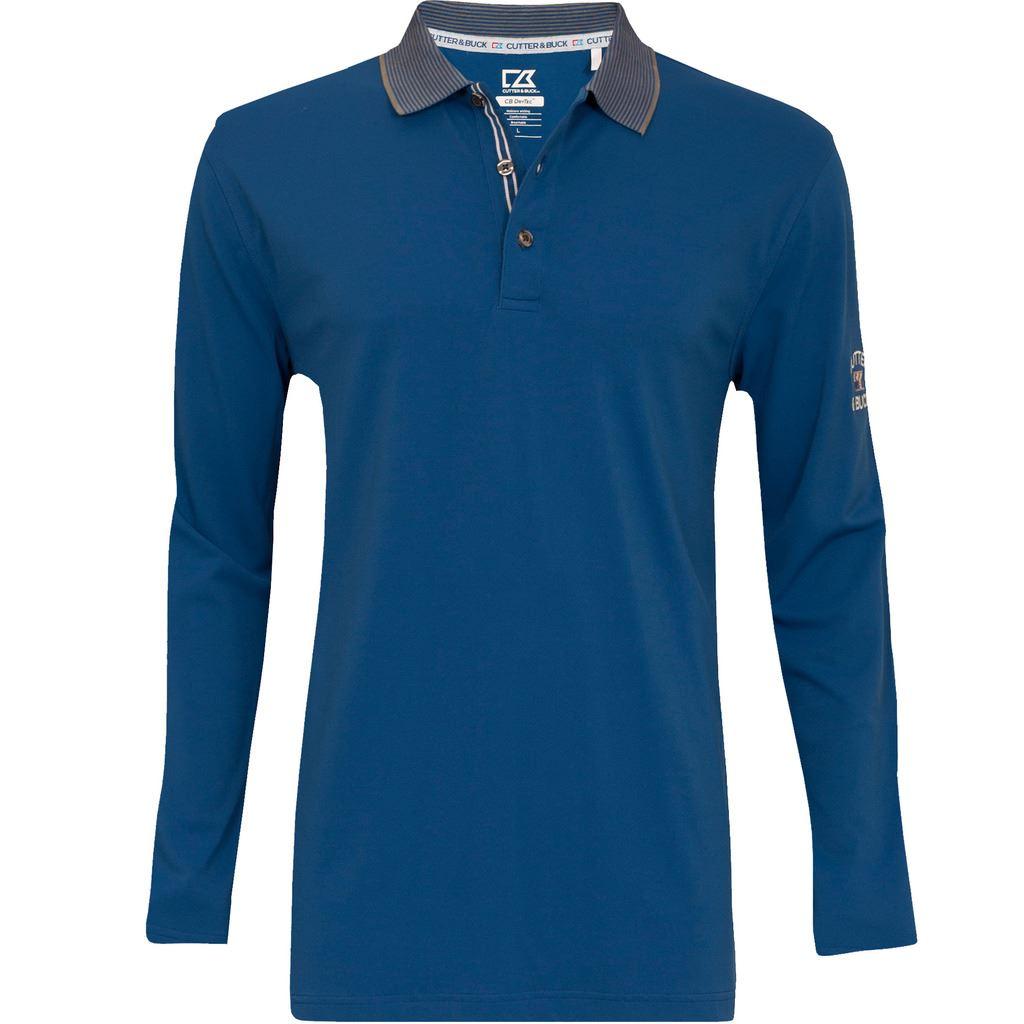 Cutter Buck Drytech Long Sleeve Pique Mens Golf Polo
