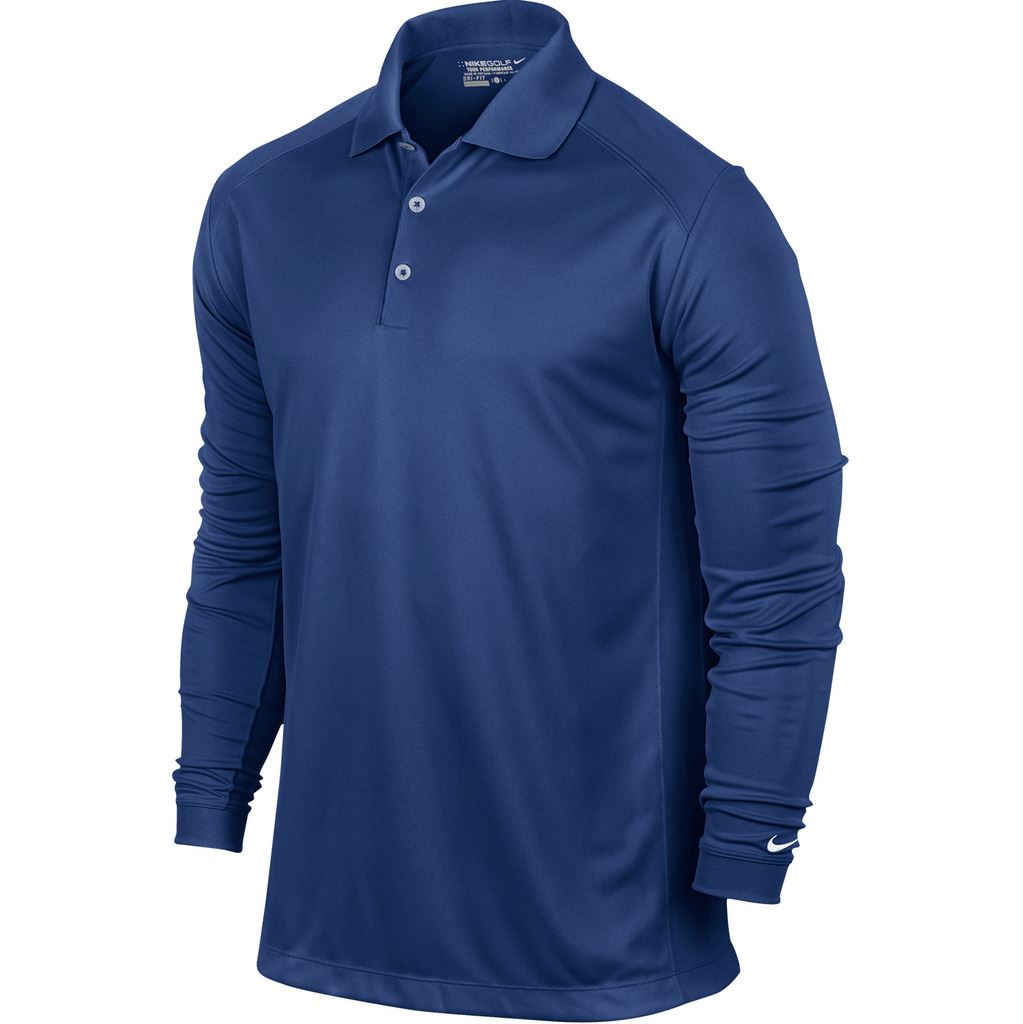 Nike Golf 2015 Victory Polo Dri-Fit Mens Long Sleeve Golf ...
