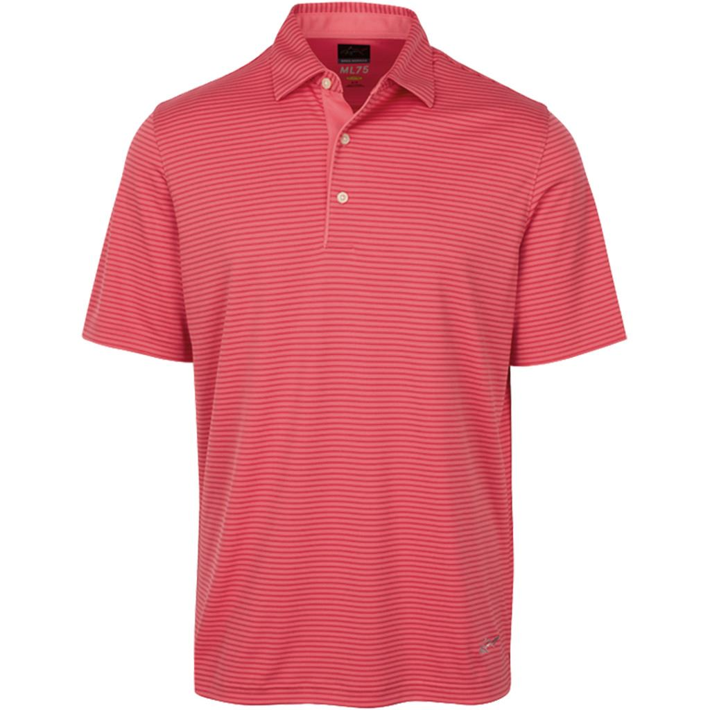 greg norman 2017 playdry ml75 tonal stripe mens golf polo