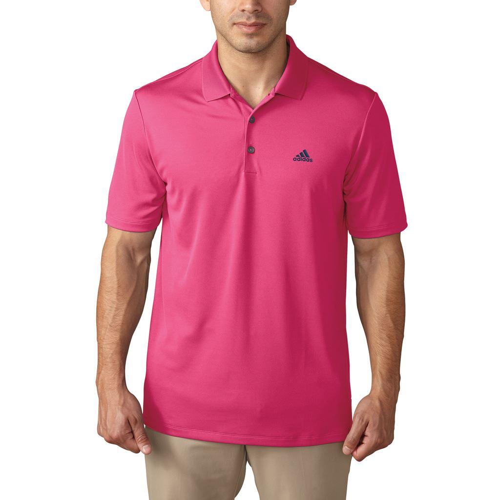 Adidas 2017 performance logo chest polo lightweight mens for Polo golf performance shirt