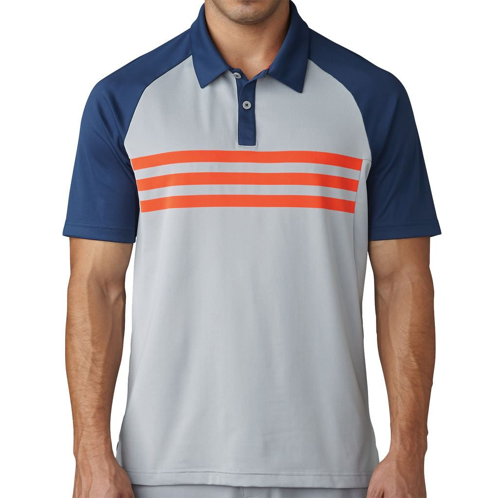 Adidas 2017 climacool 3 stripes competition polo for Polo golf performance shirt