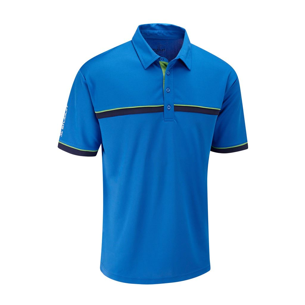 50 off rrp stuburt mens sport tech breathable shirt funky for Mens golf polo shirts