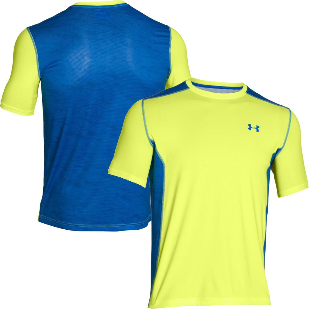 Under armour mens heatgear raid short sleeve training t for Under armour lifting shirts