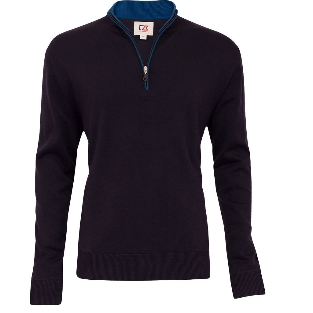 2015 Cutter & Buck WIND-BARRIER Thermal Sweater Golf Jumper FULLY LINED Pullover