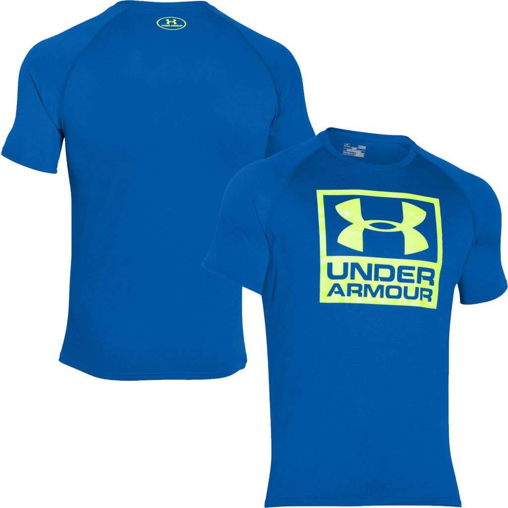 Under Armour Tech ™ 2016 T-shirt de Logo Boxed Hommes Manches Courtes