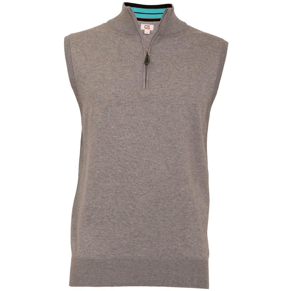 Cutter & Buck Half Zip Knitted Golf Sweater Vest Mens Tank Top | eBay