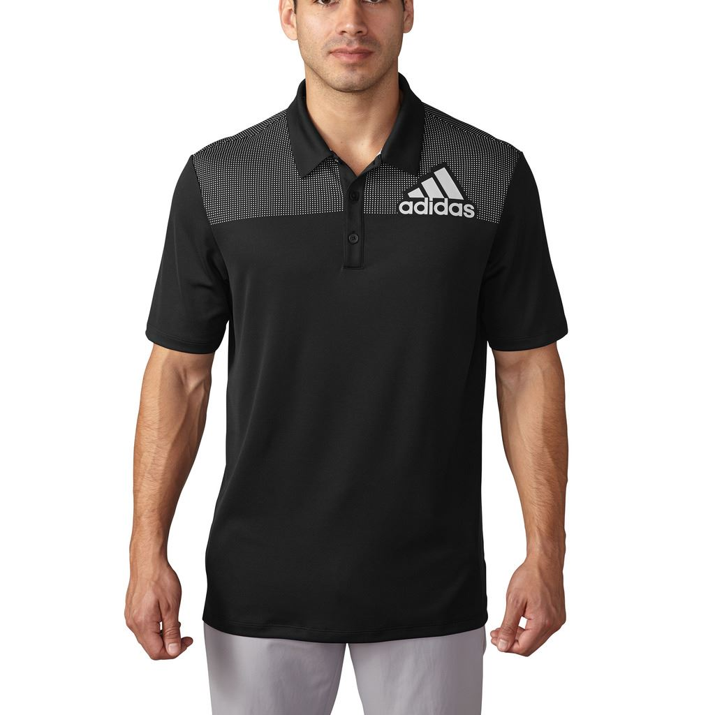 Adidas 2016 Big Logo Dot Print Lightweight Mens Golf Polo